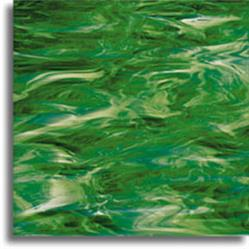 Spectrum Dark Emerald Green swirled with White (327-6S)
